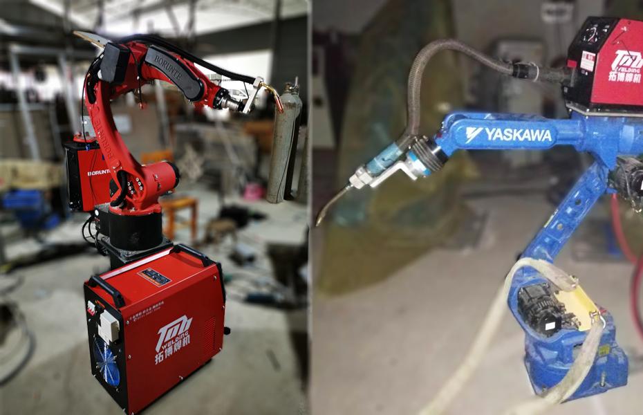 机械手调节铝焊机的电流电压方法