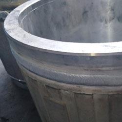 双脉冲铝焊机焊接铝合金电机外壳